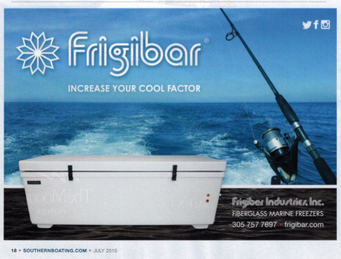 Frigibar in Southern Boating Magazine